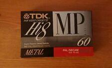 TDK MP60 Metal Partical Hi8 8mm Camcorder Tape - Sealed New Made In Japan