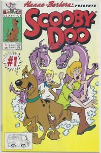 """SCOOBY-DOO V2 #1 Harvey 1992 Hanna-Barbera Cartoon TV Movies """"HIGH GRADE""""   PLUS"""
