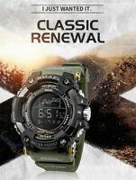 SMAEL Herren Sportuhr Uhren Analog Digital LED Elektronische Uhr Armbanduhr F8B6