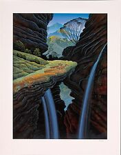 Bruce Ricker - Canyon Rock, hand-signed serigraph on paper, Framed