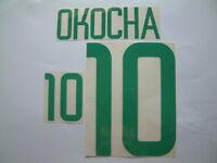 "OKOCHA NOME+NUMERO UFFICIALE NIGERIA AWAY OFFICIAL NAMESET ""KOREA-JAPAN 2002"""