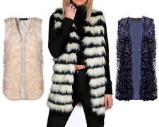 Hip Length Faux Fur Winter Coats & Jackets for Women