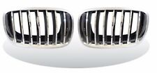 FRONT KIDNEY GRILLE CHROME-SILVER ABS For BMW E70 X5 Series E71 X6 Series