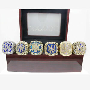 6Pcs 1977 1996 1998 1999 2000 2009 NY Yankees Championship Ring size 11 -