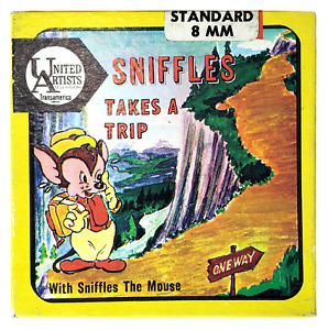 Sniffle the Mouse Takes a Trip 8mm Movie United Artists Cartoon 1940