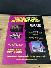 """1989 VINTAGE 8X11 ALBUM PROMO PRINT Ad VOIVOD AND LAW AND ORDER """"BLOW YOU AWAY"""""""