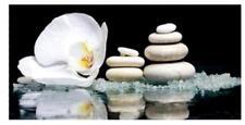 Wandbild Orchidee Blumen Blüten Steine Wasser weiß 40 X 80 Cm Feng Shui Bild