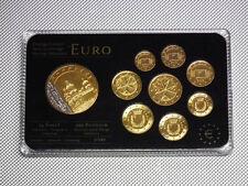 KMS Euro 2008 Malta 24 Karat Gold Plated Medal Rhodium