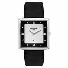 Jorg Gray JG1140-12 Stainless Brushed Silver Dial Natural Italian Leather Watch