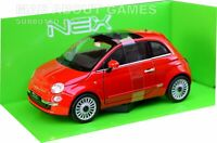 FIAT 500 1:24 Scale Diecast Model Toy Car Miniature Red
