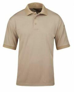 Propper Men's Uniform Polo Short Sleeve F5355 SILVER TAN Large L