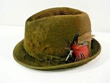 Cavanagh Mens Fedora Hat Beaver Fur Vintage Size 7 Brown 10BW3
