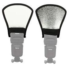 MK Silver/white Universal  Flash speedlite Reflector Bounce Card Diffuser Camera