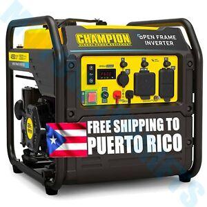 Champion 4250 Watt Inverter Generator Portable Gas Quiet Lightweight 12v Port