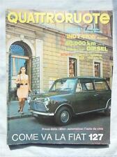 QUATTRORUOTE ITALIAN MAGAZINE FIAT 127 MAY 1971 ADVERTISING AUTOMOBILE CARS AUTO