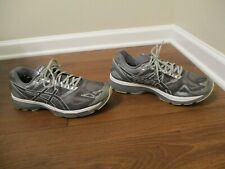 Used Worn Size 12, Width 4E Asics Gel Nimbus 19 Shoes Gray Silver White