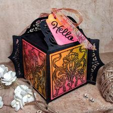 New listing Box Dies Gift Metal Dies Bag Card Making Scrapbooking Stencil Craft W5H