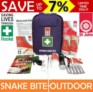 NEW St John Ambulance Snake Bite+Outdoor First Aid Kit Stings Hiking Bushwalking