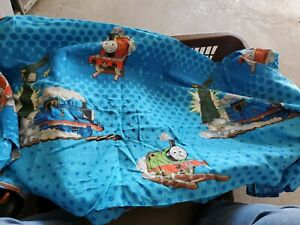 Vintage 90s Thomas the Tank Engine Train Twin Flat Sheet