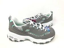 NEW! Skechers Women's D'LITES INTERLUDE Lace Up Shoes Grey/Mint #11978 166i kk