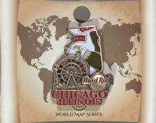 Hard Rock Hotel CHICAGO 2017 3-D WORLD MAP Series PIN New on Card LE 300 Made!