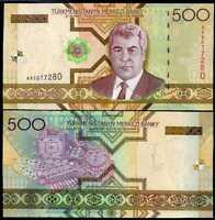 TURKMENISTAN 1000 MANAT 2005 UNC P-20 PREFIX AA