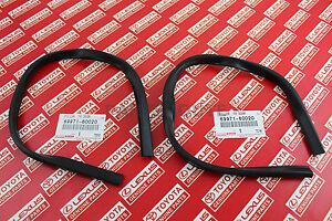 Toyota Land Cruiser FJ40 OEM Weatherstrip Front Door Glass Seal 69971-60020 x2