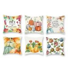 Watercolor Pumpkin Pillowcase Halloween Throw Cushion Cover Sofa Decor SK