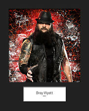 BRAY WYATT #2 (WWE) Signed 10x8 Mounted Photo Print - FREE DELIVERY