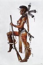 """SEXY RED INDIAN NUDE EROTIC HOT GIRL POSTER 21""""x31"""" NAKED Beauty BABE WOMAN LADY"""