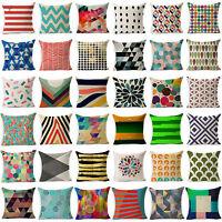 Vintage Geometric Cotton Linen Throw Pillow Case Cushion Cover Home Sofa Decor