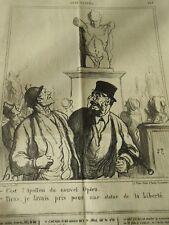 HD 3232 DAUMIER 1870 C'est l'Apollon du nouvel Opéra une statue de la Liberté