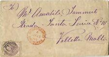 British Levant 1885 GB Used at Constantinople Cover to Valetta, Malta
