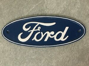 Ford Logo Plaque Cast Iron Sign Large 29cm Repro Garage Man Cave **1 ONLY**