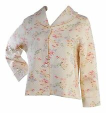 88d78db57b Slenderella Ladies Button Up Floral Quilted Bed Jacket Luxury Shawl Collar  House