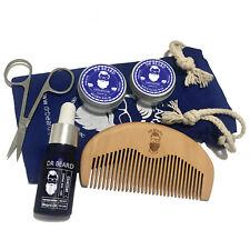 Dr Beard Mens Grooming Beard Kit ,6 Piece Set Premium Organic - Unscented Xmas