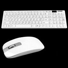 Wireless Kabellos Funk USB Keyboard Tastatur und Maus für PC Computer
