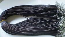 Wholesale Bulk lot 10 pcs deep brown pu Leather String 50cm Necklace Cords