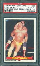 1985 OPC WWF WRESTLING 2ND SERIES #39 HULK HOGAN PSA 10 GEM MINT! POP:2!!