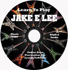 Jake E Lee (Badlands,Ozzy) Guitar TABS Lesson CD Windows,Linux,MAC 39 Songs!