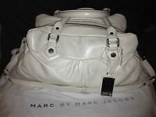 MARC by Marc Jacobs Dr. Q. Groovee Satchel in Canvas White with Silver Hardware.