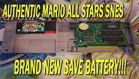 Super Mario All Stars SNES - Super Nintendo Authentic Brand New Save Battery!!