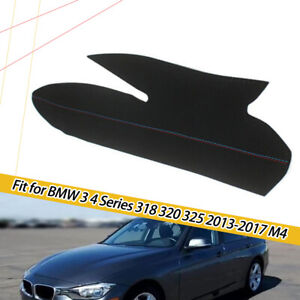 For BMW 3 Series F30 M4 Hand Sewing Inner Door Panel Handle Micro Leather Cover