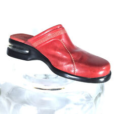 COLE HAAN Country Walking Clogs Mules Red Womens Shoes Size 6.5B