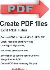 pdf creator+editor+reader+converter