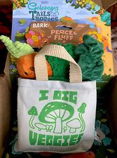 Bark Box I Dig Veggies Bag & Toys For Any Size Dog Adorable New
