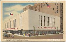 New F.W. Woolworth Company Store in Houston TX Postcard