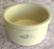 "Antique Vintage Pacific Stoneware Pottery Crock Water Bowl (7.5"" x 4"")"