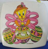 Vintage Plastic Tweety Bird Easter Container 1995 Looney Tunes