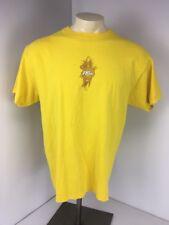 VTG 90s No Fear Yellow Surf Logo Skate Crewneck T-shirt Large L USA MADE